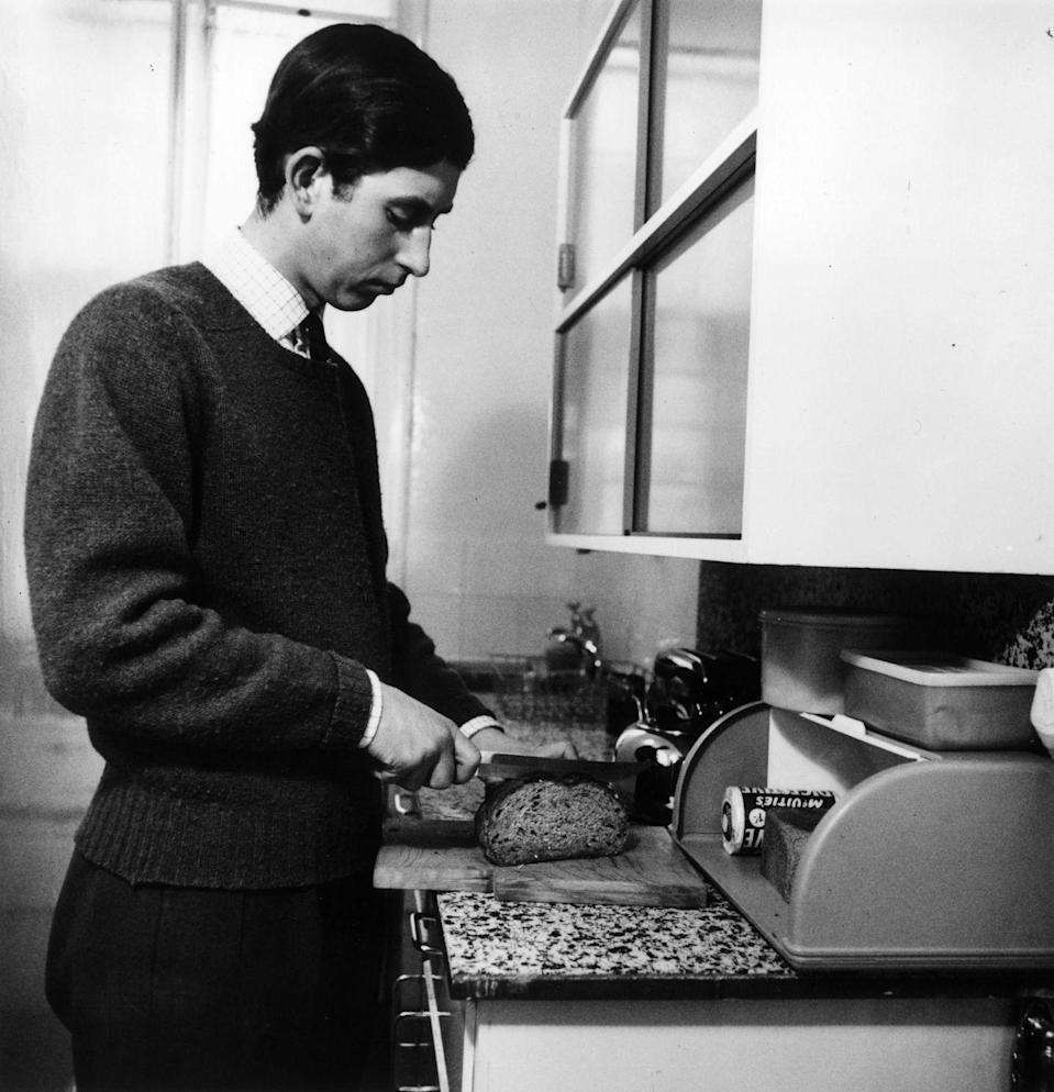 <p>While living on his own at Trinity College in 1969, Prince Charles no longer had the royal chef to cook for him. That means, yep, Charles had to learn how to slice bread just like the rest of us.</p>