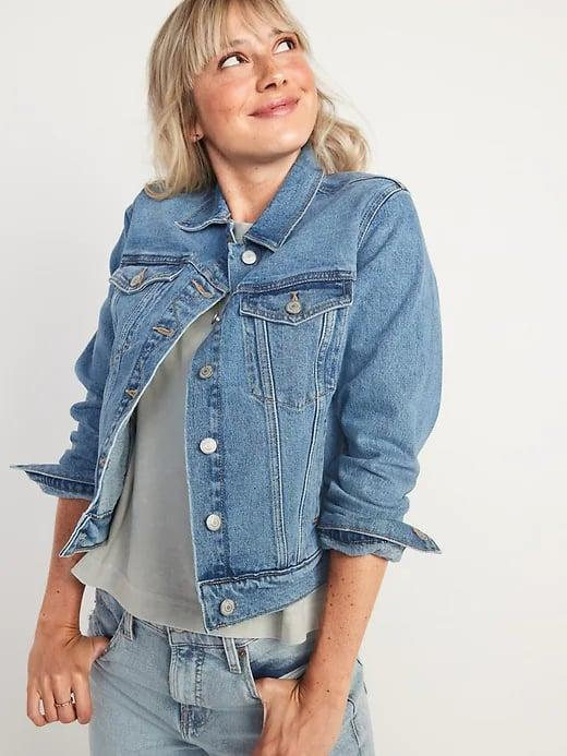 <p>This <span>Old Navy Classic Jean Jacket</span> ($40) is one you can wear for years (and years!) to come.</p>