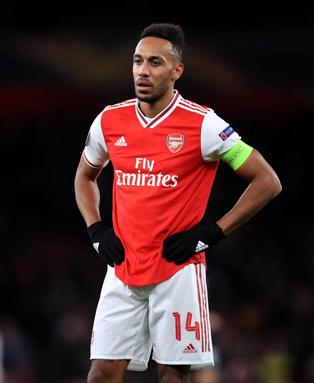 Pierre-Emerick Aubameyang is set to continue as Arsenal captain (Adam Davy/PA)