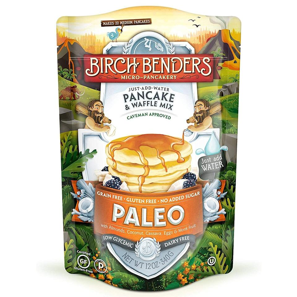 """<p>Sunday morning just got so much more delicious, thanks to this <a href=""""https://www.popsugar.com/buy/Paleo%20Pancake%20and%20Waffle%20Mix%20by%20Birch%20Benders-421228?p_name=Paleo%20Pancake%20and%20Waffle%20Mix%20by%20Birch%20Benders&retailer=amazon.com&price=5&evar1=fit%3Aus&evar9=46042877&evar98=https%3A%2F%2Fwww.popsugar.com%2Ffitness%2Fphoto-gallery%2F46042877%2Fimage%2F46042881%2FPaleo-Pancake-Waffle-Mix-Birch-Benders&prop13=api&pdata=1"""" rel=""""nofollow noopener"""" target=""""_blank"""" data-ylk=""""slk:Paleo Pancake and Waffle Mix by Birch Benders"""" class=""""link rapid-noclick-resp"""">Paleo Pancake and Waffle Mix by Birch Benders</a> ($5).</p>"""