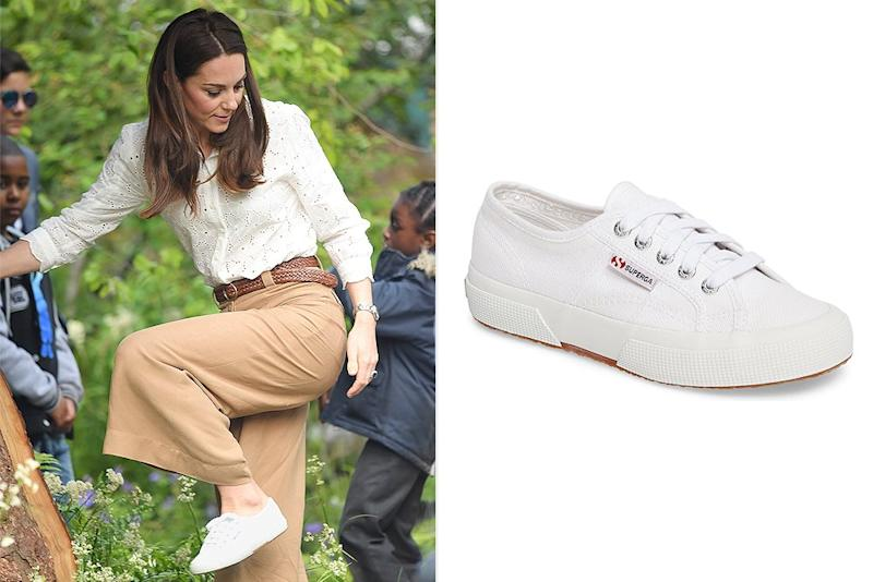 Kate Middleton Has Worn These Comfy White Sneakers for Years — and They're on Major Sale Right Now