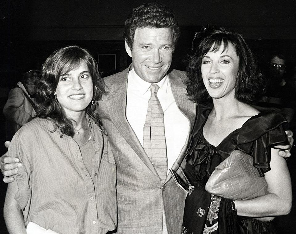 <p>William Shatner, with his then-wife Marcy Lafferty (right) and daughter Melanie Shatner (left) in Los Angeles on May 31, 1984. Melanie would make a cameo in <i>Star Trek V</i> in 1989. <i>(Photo: Ron Galella/WireImage)</i></p>