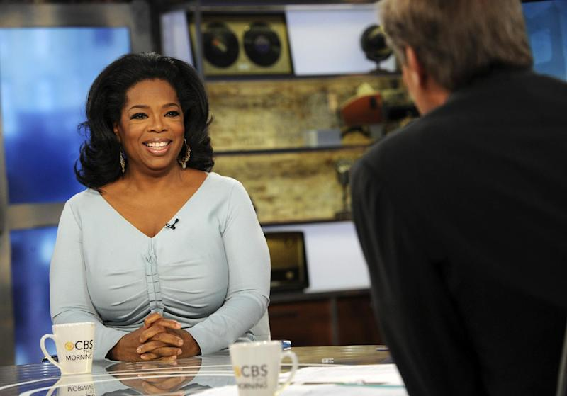 "In this image released by CBS, Oprah Winfrey appears on ""CBS This Morning,"" with co-host Charlie Rose, Monday, April 2, 2012 in New York. Winfrey says she still has faith in her troubled cable network. Appearing on the morning show, Winfrey told the show's co-host _ and her best friend _ Gayle King that she believes the Oprah Winfrey Network will fulfill its mission of transforming viewers' lives. But if viewers don't respond, Winfrey says: ""I will move on to the next thing."" OWN has struggled to build an audience since its launch in January 2011. (AP Photo/CBS, Heather Wines)"