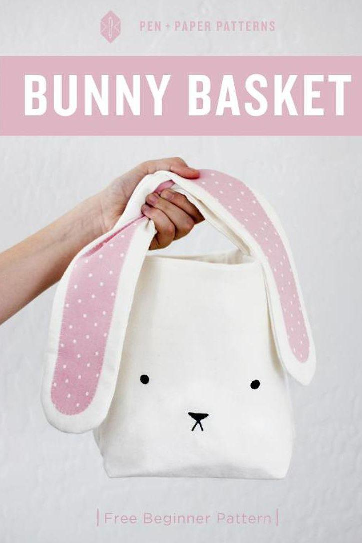 """<p>Tie up this bunny's floppy ears to create the handle on this DIY tote. She can even use it tote around her treats and treasures during your Easter festivities. </p><p><a href=""""https://www.craftsy.com/sewing/patterns/bunny-easter-basket/291792"""" rel=""""nofollow noopener"""" target=""""_blank"""" data-ylk=""""slk:Get the tutorial from Craftsy »"""" class=""""link rapid-noclick-resp""""><em>Get the tutorial from Craftsy »</em></a></p>"""