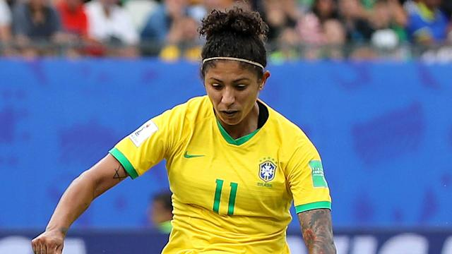 The Brazilian star claimed the prize with her brilliant header in her side's loss to Australia in France
