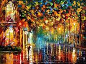 <p>This <span>Late Stroll, Miami Painting On Canvas By Leonid Afremov Studio</span> ($329) will be the center of attraction.</p>