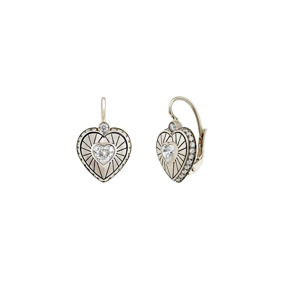 """<p><a class=""""link rapid-noclick-resp"""" href=""""https://venyxworld.com/jewellery/akh-earrings-2/"""" rel=""""nofollow noopener"""" target=""""_blank"""" data-ylk=""""slk:SHOP NOW"""">SHOP NOW</a></p><p>Lovers of vintage-looking jewellery will adore Venyx's white gold earrings, inset with twinkling diamonds. </p><p>White gold, diamond and black rhodium earrings, £8,640, <a href=""""https://venyxworld.com"""" rel=""""nofollow noopener"""" target=""""_blank"""" data-ylk=""""slk:Venyx"""" class=""""link rapid-noclick-resp"""">Venyx</a>.</p>"""