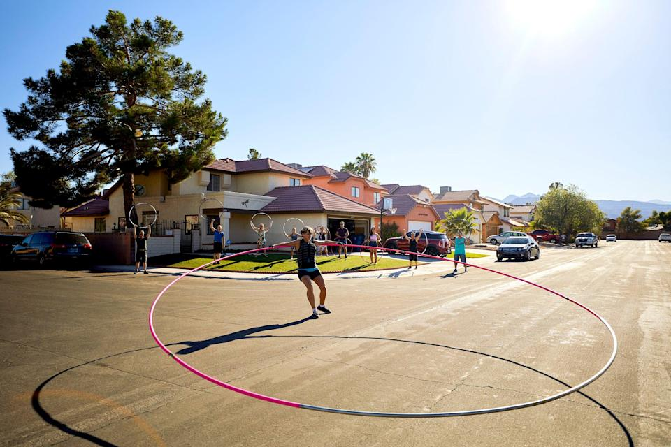 File: Getti Kehayova has an entry in the Guinness World Records 2020 edition for Largest Hula Hoop Spun (Female) (PA)