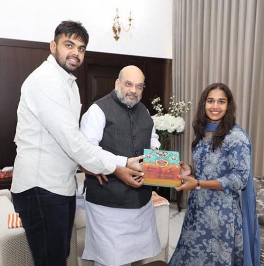 Babita and Vivek Amit Shah