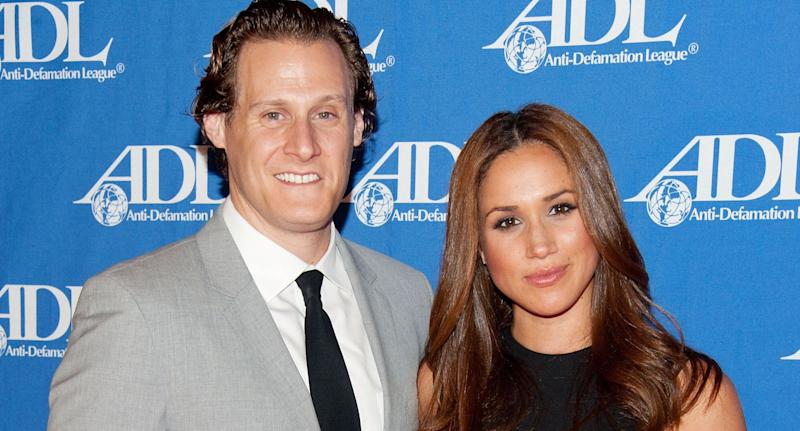 Trevor Engelson and Meghan Markle in 2011 (Photo by Amanda Edwards/Getty Images).