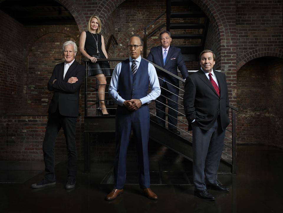 The Dateline correspondents, from left: Keith Morrison, Andrea Canning, Lester Holt, Josh Mankiewicz, and Dennis Murphy.
