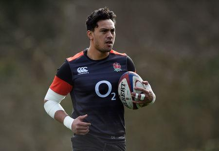 Rugby Union - England Training - Pennyhill Park, Bagshot, Britain - March 14, 2018 England's Denny Solomona during training Action Images via Reuters/Adam Holt
