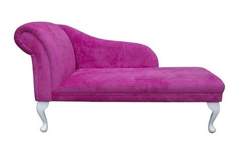 pink chaise longue day bed