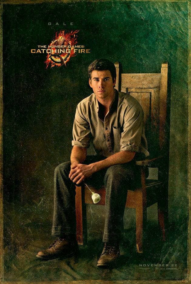Liam Hemsworth as Gale in his 'Catching Fire' portrait