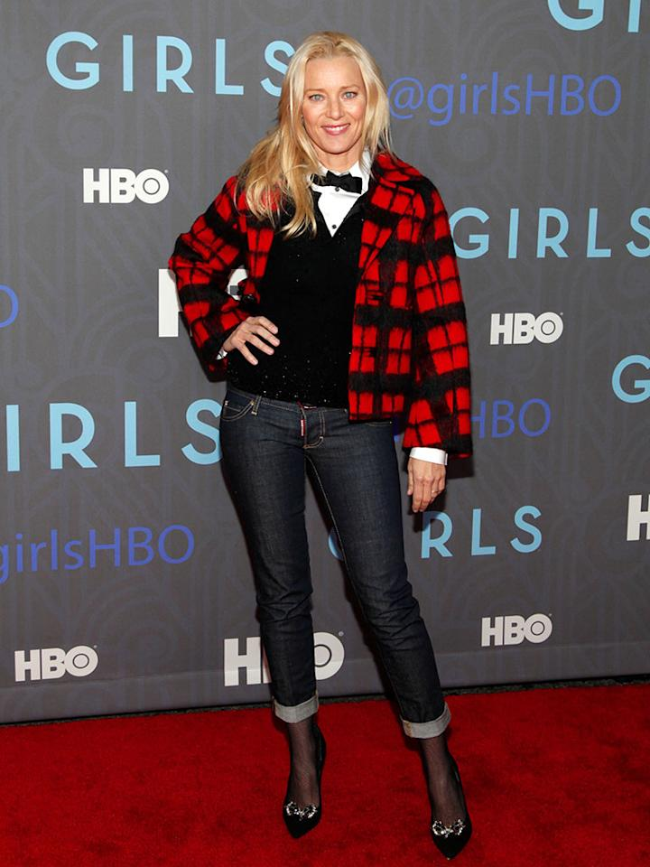 "Angela Featherstone attends HBO's premiere of ""Girls"" Season 2 at the NYU Skirball Center on January 9, 2013 in New York City."