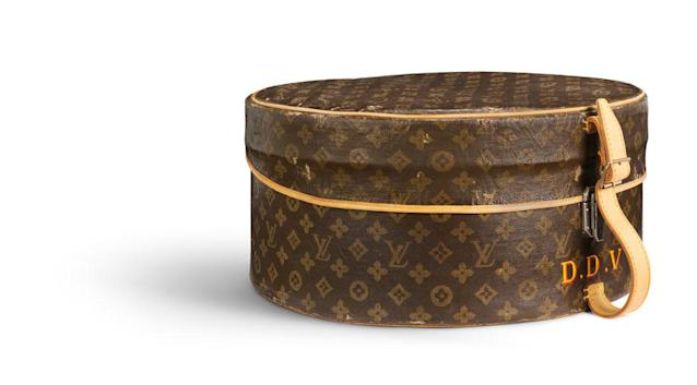 """Hat box from 1937 that belonged to the former editor ofVogue, Diana Vreeland, at the """"Volez, Voguez, Voyagez"""" exhibit in New York (Photo: BFA, courtesy of Louis Vuitton)"""