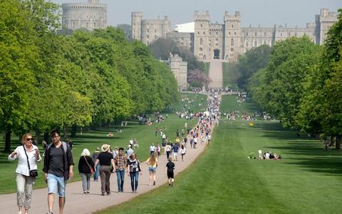 <span>Windsor's Buggy Fit crowd meets weekly on the Long Walk - but will Meghan join them?</span>