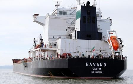 The Iranian vessel Bavand is seen near the port of Paranagua