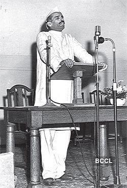 Kamath speaking at a Parliamentary conference on world government in 1952