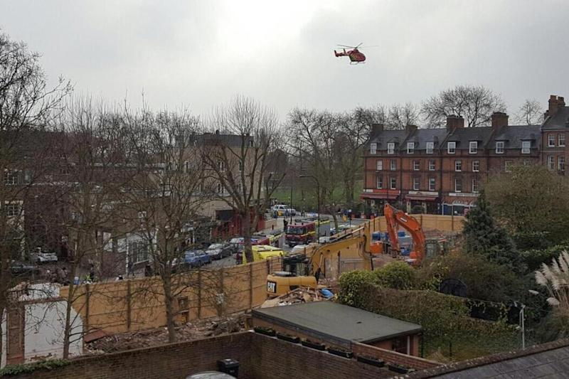 Air Ambulance: the man was air-lifted to hospital with