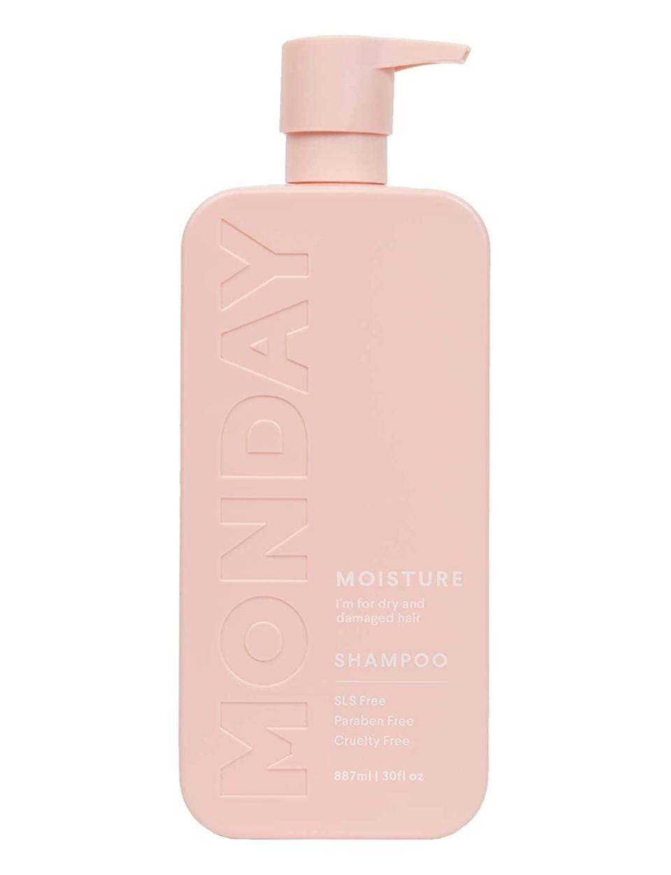 <p>If you have dry hair and scalp, the <span>Monday Haircare Moisture Shampoo</span> ($17) will gently cleanse your roots without leaving them feeling stripped. How cute is this packaging?!</p>