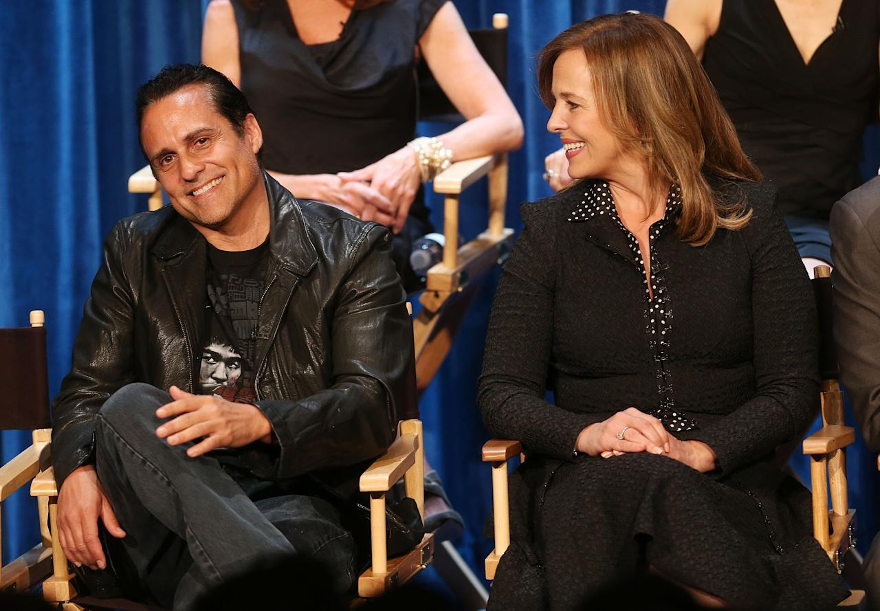 "BEVERLY HILLS, CA - APRIL 12: Actor Maurice Benard (L) and actress Genie Francis attend` The Paley Center for Media Presents ""General Hospital: Celebrating 50 years and Looking Forward"" at The Paley Center for Media on April 12, 2013 in Beverly Hills, California.  (Photo by Frederick M. Brown/Getty Images)"