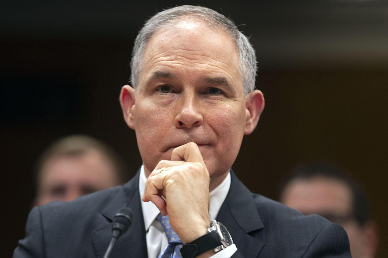 Scott Pruitt, pictured last May, was Oklahoma's attorney general for almost all of Wyrick's time as the state's solicitor general, between 2011 and 2017. (Photo: Al Drago/Reuters)