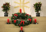 """<p>The <span class=""""redactor-unlink"""">advent wreath</span> is a huge part of <span class=""""redactor-unlink"""">Croatian Christmas</span>. The <a href=""""https://www.housebeautiful.com/entertaining/holidays-celebrations/g2787/christmas-wreaths/"""" rel=""""nofollow noopener"""" target=""""_blank"""" data-ylk=""""slk:wreaths"""" class=""""link rapid-noclick-resp"""">wreaths</a> are usually made of straw or twigs and candles symbolizing hope, joy, love, and peace are added to the display once a week during the 25 days leading up to Christmas. </p>"""
