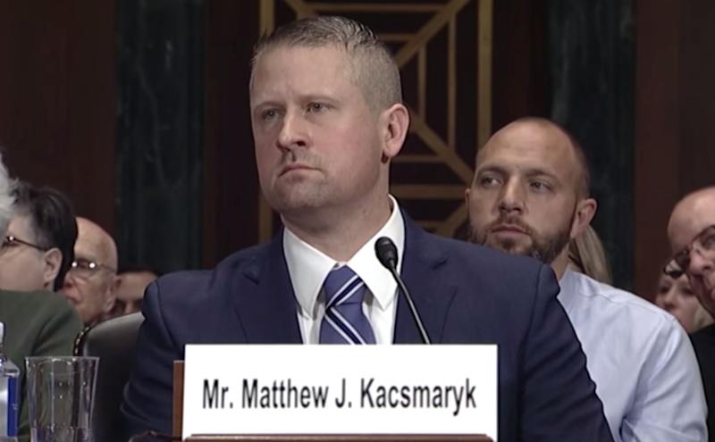 "Matthew Kacsmaryk thinks being transgender is ""a delusion"" and that pharmacists shouldn't have to provide birth control to women. He's 42 and about to become a lifetime federal judge. (Photo: CSPAN)"