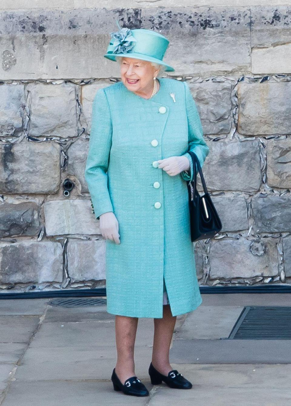 <p>The monarch looked delighted as she arrived at the birthday ceremony. Despite the cancelation of this year's Trooping the Colour, Queen Elizabeth seemed to enjoy watching a special parade by the 1st Battalion Welsh Guards.</p>