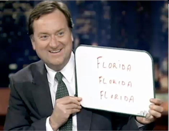 """News anchor Tim Russert, with his famous whiteboard, during the 2000 election coverage on NBC. <span class=""""copyright"""">(NBC News)</span>"""
