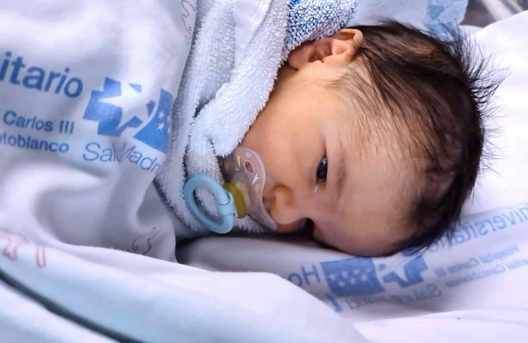 Baby Oliver was put straight into an incubator and kept away from all the other babies until he was found to be free of the virus