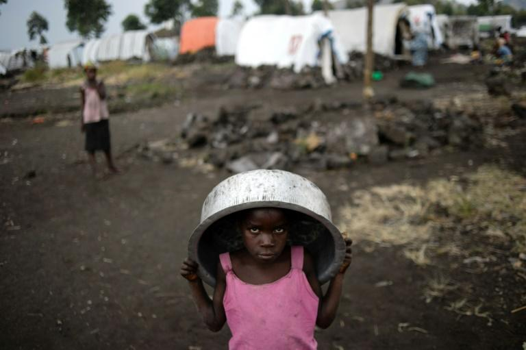 Fighting in eastern Democratic Republic of Congo has forced hundreds of thousands of people from their homes (AFP Photo/PHIL MOORE)