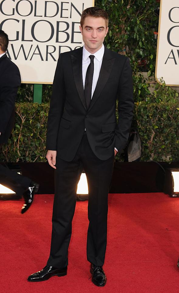 Robert Pattinson arrives at the 70th Annual Golden Globe Awards at the Beverly Hilton in Beverly Hills, CA on January 13, 2013.