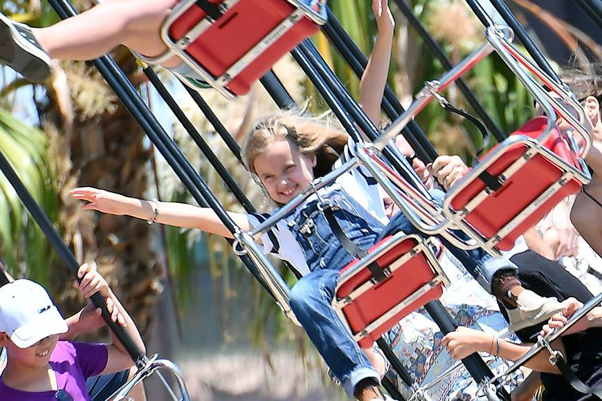 Angelina Jolie and the kids enjoyed a special day at Disneyland in California on Wednesday for a special birthday celebration fro twins Knox and Vivienne who turned nine!