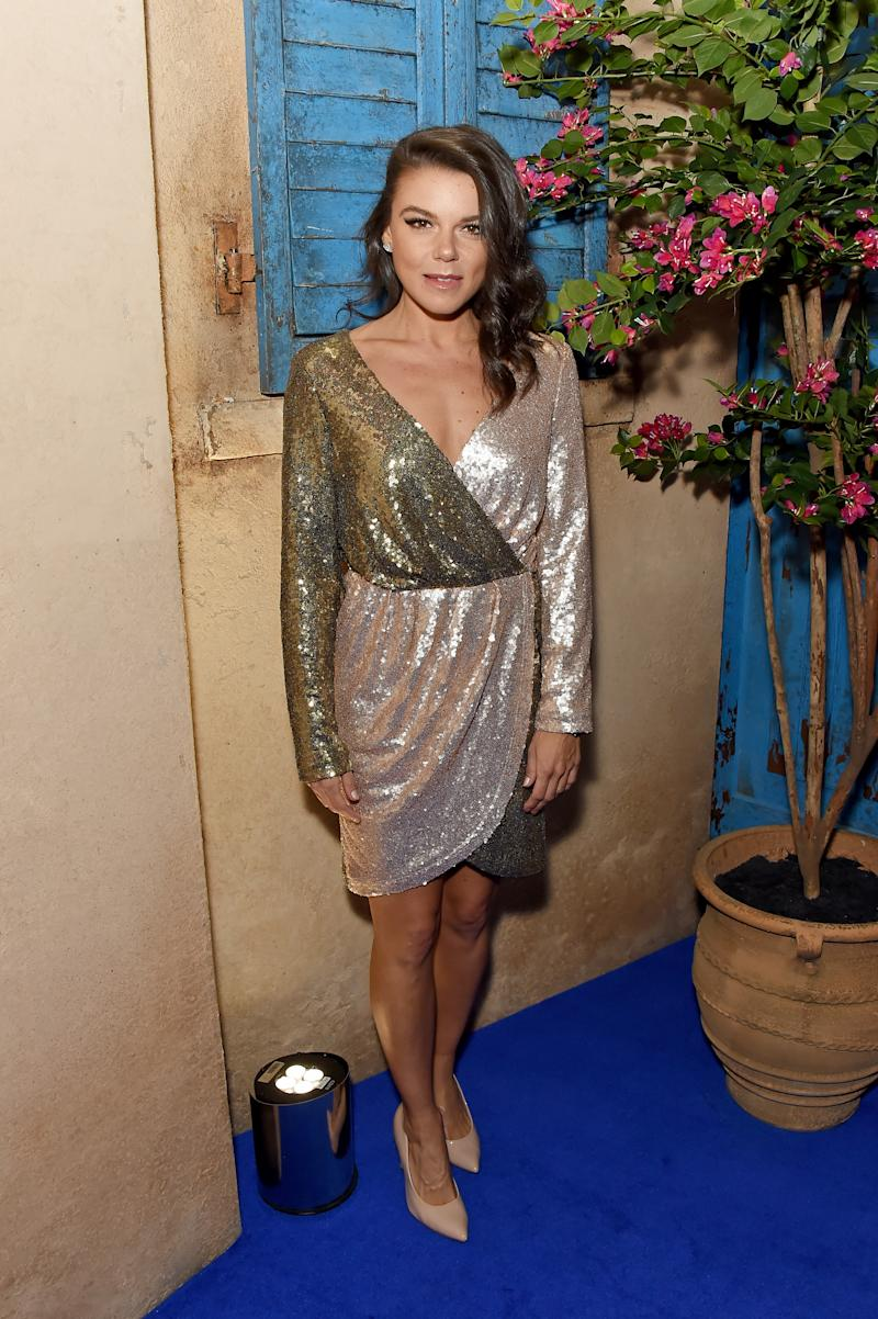 Faye Brookes attends the opening night of MAMMA MIA! The Party at Building 6 at The O2 on September 19, 2019 in London, England. (Photo by David M. Benett/Dave Benett/Getty Images for Mamma Mia)
