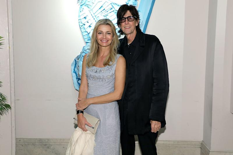 Paulina Porizkova and Ric Ocasek photographed together on May 11, 2018, in New York City. (Photo: Taylor Hill/Getty Images for The Art Students League of New York)