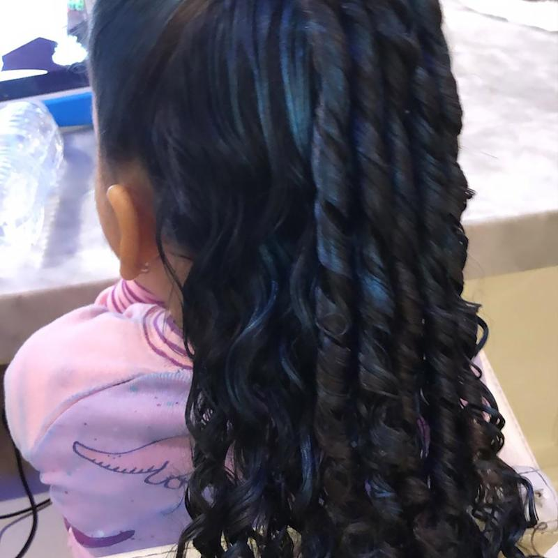 Blac Chyna Showed Off Dream's New Blue Hair