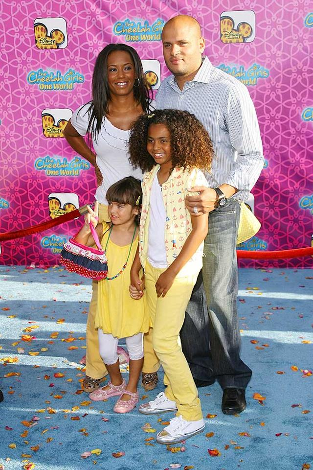 "Another ""Dancing"" alum, Mel B (aka ""Scary Spice""), walks the red carpet with her hubby Stephen Belafonte and daughter Phoenix Chi. Michael Tran/<a href=""http://www.filmmagic.com/"" target=""new"">FilmMagic.com</a> - August 12, 2008"