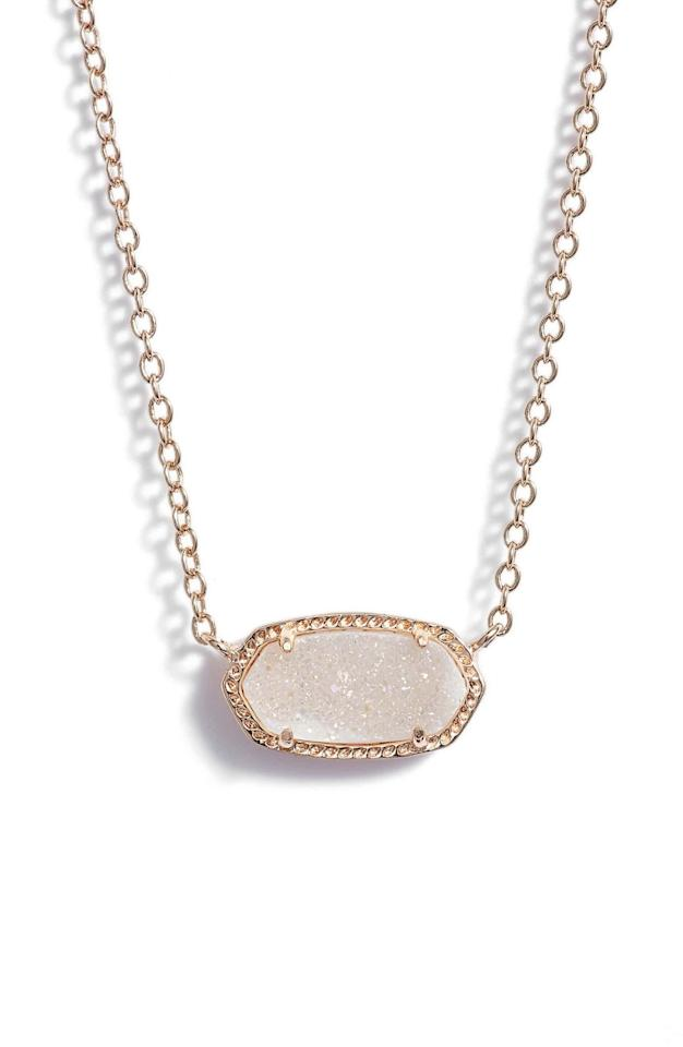 """<p><strong>KENDRA SCOTT</strong></p><p>nordstrom.com</p><p><strong>$65.00</strong></p><p><a rel=""""nofollow"""" href=""""https://shop.nordstrom.com/s/kendra-scott-elisa-pendant-necklace/3803423"""">Shop Now</a></p><p>A dainty bauble like this pendant necklace fits everybody's style. </p>"""