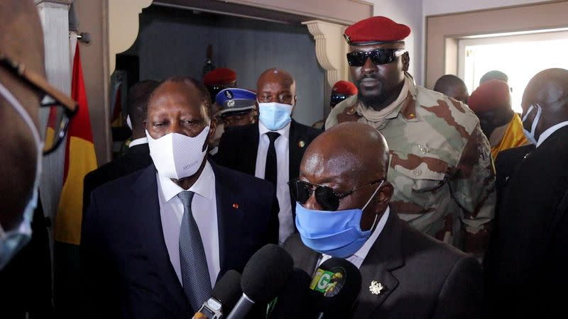 West African leaders leave Guinea after meeting with sanctions-hit junta, in Conakry
