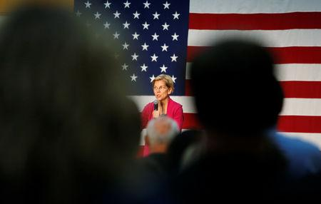 Democratic 2020 U.S. presidential candidate and U.S. Senator Elizabeth Warren (D-MA) speaks during a townhall event in Columbus, Ohio, U.S., May 10, 2019. REUTERS/Maddie McGarvey