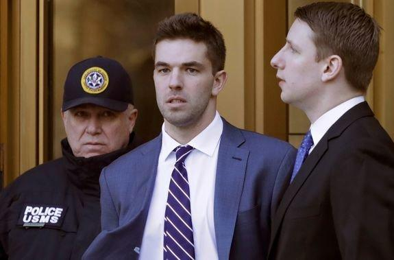 Billy McFarland, the organizer behind last year's disastrous Fyre Festival in the Bahamas, was sentenced on Thursday to six years in prison. He's seen at an earlier court appearance. (Mashable)