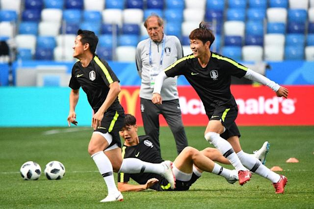 Asian powerhouses South Korea are hoping to avoid a repeat of 2014, when their performance in Brazil was so dire that the team was pelted with toffees (AFP Photo/Johannes EISELE)
