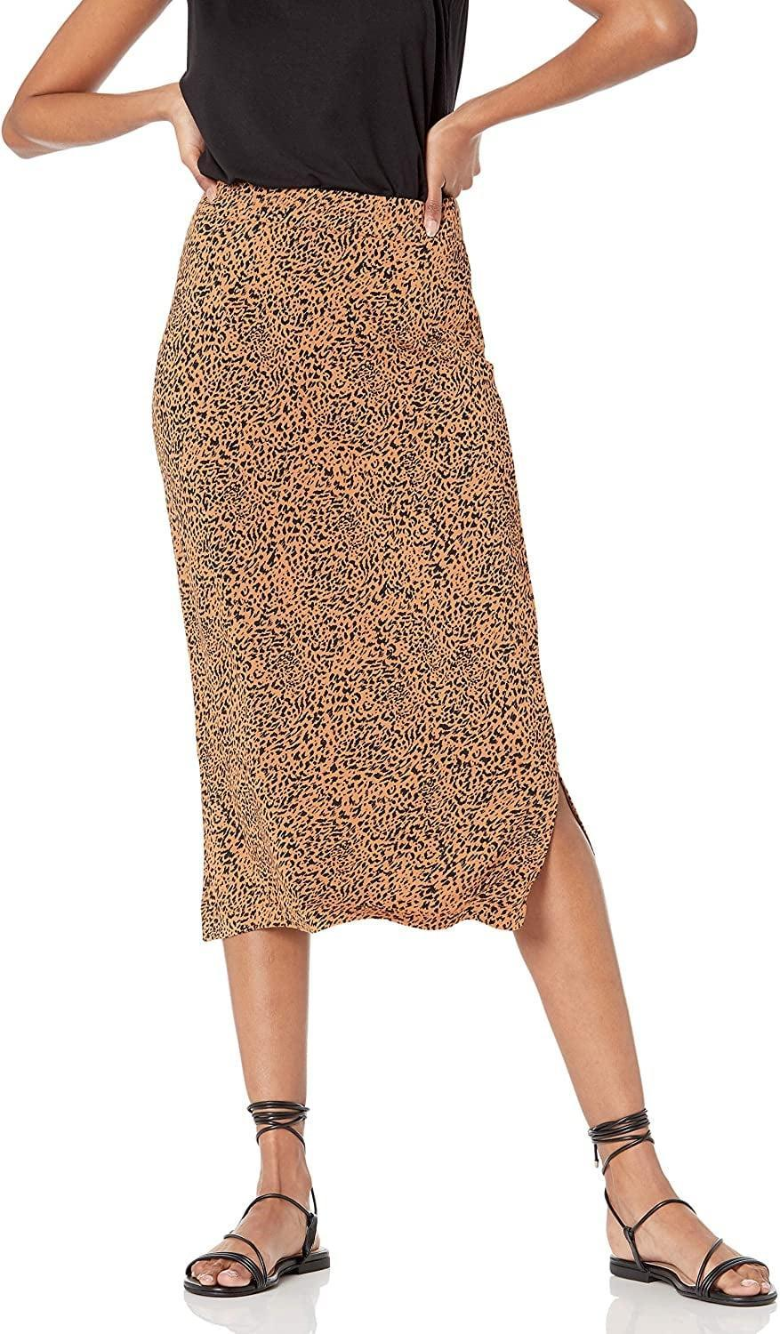 <p>If you love animal print, then the <span>Amazon Essentials Pull on Knit Midi Skirt</span> ($20) is for you.</p>
