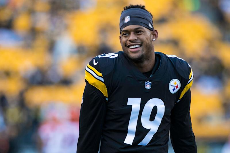 JuJu Smith-Schuster and the Steelers are ready to move on from Antonio Brown and his drama, but Brown's presence is still felt in the locker room. (Photo by Mark Alberti/Icon Sportswire via Getty Images)