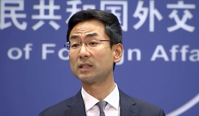 Chinese foreign ministry spokesman Geng Shuang said Beijing would continue to work to de-escalate the situation. Photo: Handout