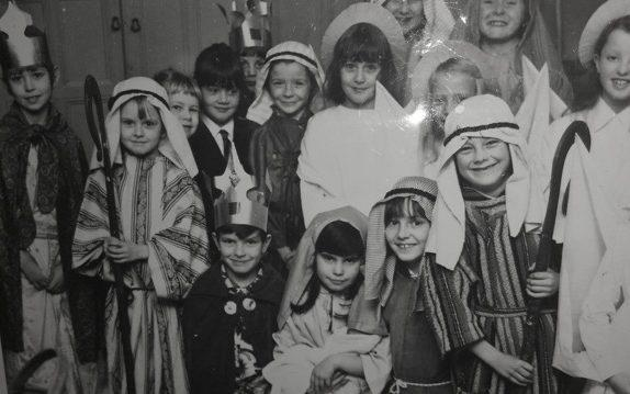 Rick Astley, second from right, as Joseph in a school nativity, aged 5