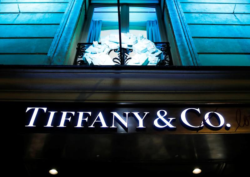 A Tiffany & Co. logo is seen outside a store in Paris, France, November 22, 2019. REUTERS/Gonzalo Fuentes