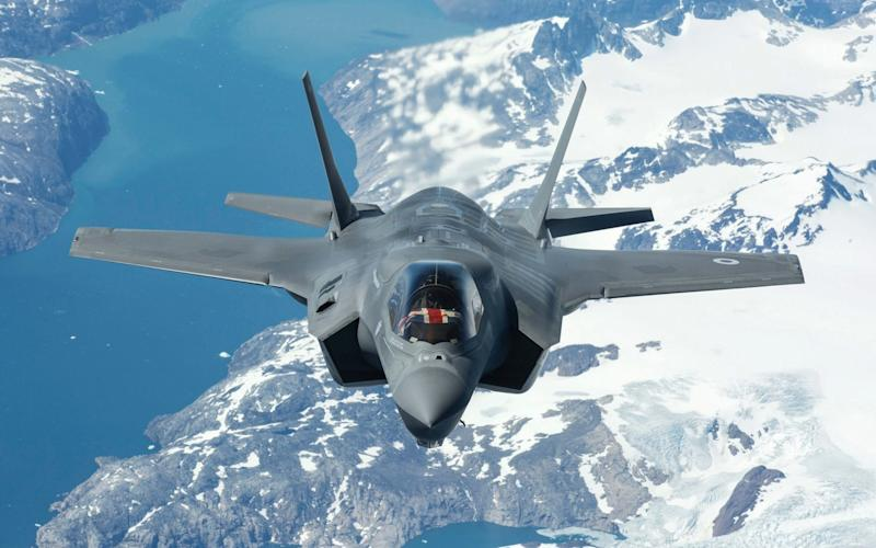 A stealth jet similar to the one dispatched by the US on Monday, to warn off the Russian nuclear bombers - EPA